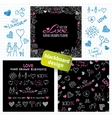 Big set of hand drawn love elements vector image vector image