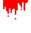 blood leaking on white background for halloween vector image vector image