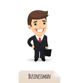 businessman with a briefcase vector image