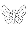 butterfly thin line icon nature and fly insect vector image