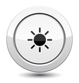 Button with sun vector image vector image