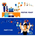 Celebration Banners Set vector image vector image