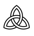 celtic knot icon saint patricks day related vector image