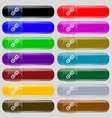 Chain Icon sign Set from fourteen multi-colored vector image