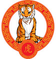 Chinese Zodiac Animal Tiger vector image