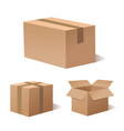 collection recycle brown box packaging vector image