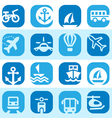 color transportation icons set vector image vector image