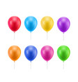 colorful realistic ballons vector image