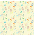 decorative easter egg draw seamless pattern vector image