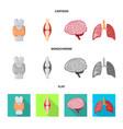 design of biology and scientific symbol vector image