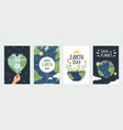 earth day posters save environment concept vector image