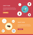 flat icons cranium sabre tobacco and other vector image vector image