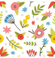 floral seamless pattern with blooming meadow vector image vector image