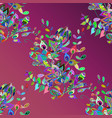 flowers on pink background floral pattern in vector image