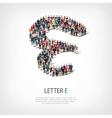 group people shape letter E vector image