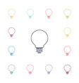idea flat icons set vector image