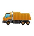 industrial cargo truck icon vector image vector image