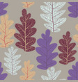 leaves trend pattern vector image vector image