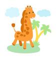 little cute giraffe character vector image