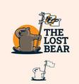 lost bear vector image