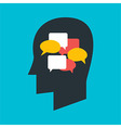 Man with Thoughts in his Head vector image vector image