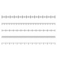 measurement scale with black marks ruler scale vector image vector image