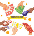 money stack dollar or currency exchange vector image vector image
