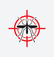 mosquito icon red target vector image vector image