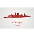 Nagoya skyline in red vector image vector image