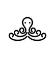 octopus simple logo design inspiration vector image vector image