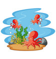octopus swimming in sea vector image