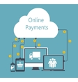 Online Payments Flat Concept vector image vector image