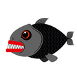 Piranha marine predator on white vector image vector image