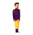 renaissance clothing man character in vector image