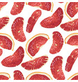 seamless pattern in with citrus red fruit vector image