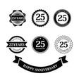 set anniversary 25 years birthday logo label