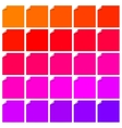 set colorful flat labels with curled corners vector image