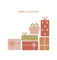 set hand drawn christmas gift boxes trendy vector image