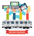 Subway Wifi Poster vector image vector image