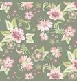sweet flower floral background vector image vector image