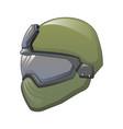 tactical helmet icon cartoon style vector image