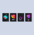 template set with colorful fluid geometric shapes vector image
