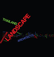 thailand landscape architect text background word vector image vector image