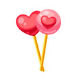 valentines day pair candy hearts vector image