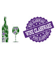 wine glassware composition of wine bottles and vector image