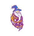 wizard tornado mascot vector image