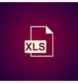 xls icon Flat design style vector image vector image