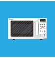 White modern closed microwave oven vector image