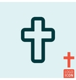 Cross icon isolated vector image