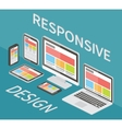 Responsive web design 3d isometric flat vector image